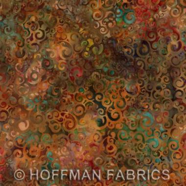 Hoffman Batiks Multi Color J2392 39 Rust Old Country