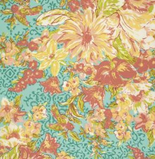 Freespirit glorious garden pwac006 aqua old country for Designer fabric suppliers