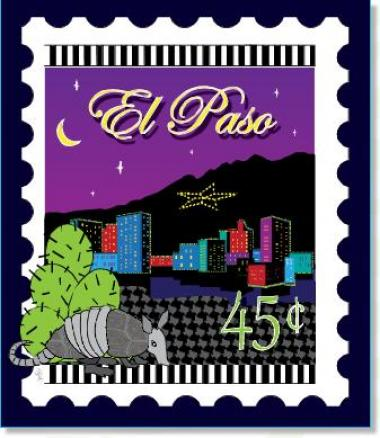 Miscellaneous Us City Stamp Panels El Paso Old Country Store