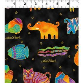 Fabric Designers > Laurel Burch > Clothworks Mythical Jungle